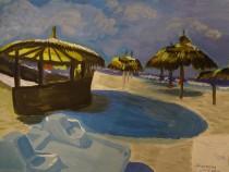 Киреева Ночной пляж в Тунисе 30х40 б.гуашь 2013г