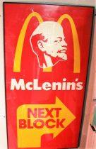 Косолапов Александр «McLenin's» (МакЛенинизм) 116 х 62 б/шелкография; 1/40; 1991 год