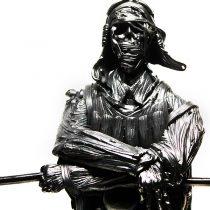 Антон и Павел Якушевы. ВОЙНА ПОД ЛИСТЬЯМИ. Металлическая скульптура / графика
