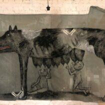 Наташа Шалина. ЗВЕРСКАЯ ИСТОРИЯ. Живопись / живопись по ткани / объекты из дерева / инсталляция
